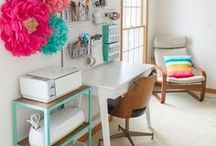 Craft Rooms + Craft Storage / loads of ideas for craft room design and storage
