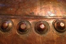 Metals ❉ Copper / Aged, new, shiny, patina all warm and rich / by Jackie Jordan