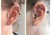 Industrial Piercing ➩ Barbell Body Jewelry / The perfect topping to an ear full of Body Candy!