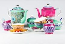 Coffee or tea? / Gorgeous tea pots and cups, and coffee-related paraphernalia
