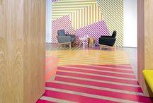 Interiors | Coloured Floors / Coloured flood inspiration | #colours #flooring #interiordesign
