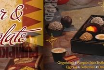 [SEASONAL] Cheer & Chocolate 6 Piece Box / SEASONAL ITEM ONLY:  November - December Gingerbread, Pumpkin Spice Truffle, Egg Nog, Peanut Butter Dreams, Buttermint Bourbon/Date Truffle.