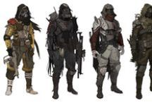 Character Study / References, inspiration, design, concept art, structure, poses, actions, expression, clothing, style, human, animal, robot...
