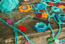 Knit, Crochet, Weave, Loom, Fiber Art / Connecting, Linking, Creating with Fiber