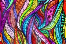 Drawing, Doodling, and Zentangle / Through close observation, play and creativity we see nature in a different light and may event learn to understand it's inner workings.