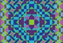 Twin Quilts / Quilt patterns, Twin size variations, and online fabric shops that showcase different designers and collections.