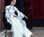 Ao Dai Style / Design, details and styles of the Vietnamese traditional long dress, ao dai