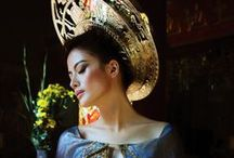 Ao Dai Accessories / Ao Dai accessories include Khanh Dong and kieg or Vietnamese Turban and tubed necklace