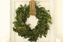 D E C O R A T E | Wreaths / Every front door should have one! / by Ann Drake | onsuttonplace.com