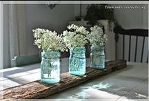D E C O R A T E | Mason Jars / Ideas and inspiration to use mason jars in your decor. Whether they are new or old, blue or clear, they work with almost any style. / by Ann Drake | onsuttonplace.com