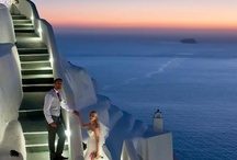 Santorini Destination Wedding / Beautiful couples, unique moments, amazing shots on the most beautiful of all the Greek islands. Sea, sun, sunset, simplicity, tradition, blue & white, luxury... you will find them all on Santorini / by Santorini Weddings