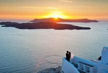 Santorini Sunset Weddings / The best destination for your wedding ceremony is Santorini island. The best time to get married is when the sun sets; Santorini  offers maybe the most beautiful sunsets in the world. The view is breathtaking, the colors smooth and magical, the scenery unbelievably romantic. / by Santorini Weddings