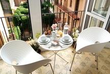 small balcony ideas / by Iva