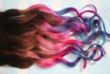 Hair in rainbow colors / by crazycandigirl