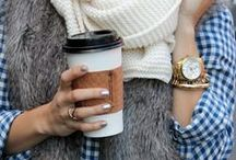 FEELING FALL / winter: time for scarves, snuggling under covers, layers and hot coffee