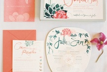 Stationery Ideas - wedding / Wedding invites, save the date, stationary, menu cards, signs, invitations ... which will inspire you to be creative! / by Weddingplanner 'het Bruidsmeisje'