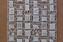 Weaving and filet lace / by Reina