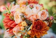 Orange/Peach Weddings / Orange and peach wedding Flowers