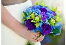 Blue weddings / www.lushfloraldesgnpdx.com Serving Portland, Oregon and Vancouver, Washington. Wedding and Event floral design. Wedding bouquets, centerpieces, ceremony floral, Cake floral, Boutonnieres', Altar floral, corsages, aisle petals. Contact us at www.lushfloraldesignpdx.com