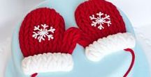 Christmas Cake Ideas / cake, snow, magical, santa