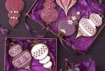 Christmas Cookies/Gingerbread / Cute gingerbread man, birdhouses, cookies, snowflakes, puddings