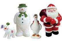 Snowman/Snowdog Cake Decorations / Ideal for Cakes, cupcakes, cake pops & cookies