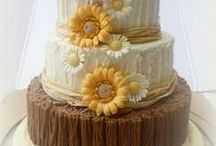 Rustic Wedding Cakes / Rustic wedding cakes, cupcakes, decorations, pop pies, wood cake stands