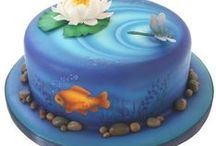 Air Brushed Cakes / Spray, ombre, colourful, patterns, effects