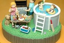 Summer Cake & Cookie Ideas / cake, cupcake, cake pops, cookies, BBQ, picnic, ball, flowers, sun, summer, holiday, party, children, kids