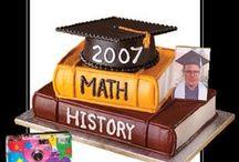 Graduation Cake Ideas / Graduation cakes, cookies, cupcakes, cake pops, exams, pass, school, uni, well done, celebrate