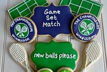 Wimbledon Tennis Cake Ideas / Cakes, cake pops, cupcakes & cookies, tennis racket, tennis ball, net, court, Wimbledon