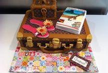 World Travel Cake Ideas / Holiday, trekking, world, country, sun, site seeing, suitcase, Paris, London