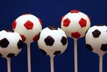 Football / Soccer Cake Pops / soccer, football, goal, net, team, Arsenal, Manchester United, Liverpool, grass, match, pitch