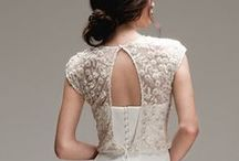 Cover Story / Capelets, Shrugs, Wraps, Jackets, Drapes for wedding dresses.  / by Chic Nostalgia
