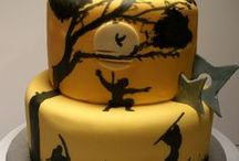 Silhouette Cake Ideas / Romantic, wedding, cats, party, love, graceful, graduation, skyline, magical, fairy, Peter Pan, shopping, cameo, sunset