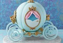 Cinderella Cake Ideas / Cinderella, pumpkin, magical, fairy tale, castle, carriage, mice, sew, Disney, cake, cupcake, cake pop, party