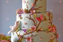 Secret Garden Cake Ideas / Enchanting, secret, flowers, garden, wedding, cake, cupcakes, rustic, pastel