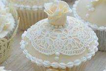 Lace Wedding Cake Ideas / Cake, wedding, vintage, cupcake, lace, sugar lace, Claire Bowman