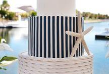 Stripey Wedding Cake Ideas / Wedding, birthday, nautical, vintage, tiered