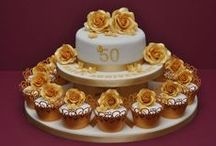Golden Anniversary Cake Ideas / Golden, golden, cake, cupcake,50 years, anniversary
