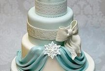 Drapes, Bows & Frills Wedding/Celebration Cakes / Drapes, bows, frills, swags, material, cake, wedding, celebration, silk
