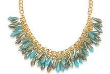 Perennial Beauty / Everlasting pieces made out of green and blue beads in gold metal casting. / by CAROLEE