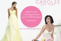"Carolee & Mac Duggal Prom / 1. ""Like"" Mac Duggal on Facebook, Instagram, and/or Pinterest.  2.  Create a new board on your Pinterest and call it ""Carolee & Mac Duggal Prom"".  3. Visit the Carolee & Mac Duggal Prom board at https://www.pinterest.com/caroleejewelry/ OR https://www.pinterest.com/macduggal/.  4. Pin two dresses of your choice from this board.  5. Visit www.Carolee.com and pin the jewelry that you would match with these dresses.  6. Email your Pinterest board link to pr@carolee.com. / by CAROLEE"
