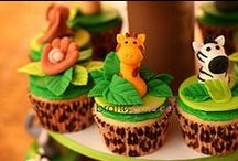 Animal Cake Ideas / safari, jungle, farm, zoo, woodland Noah's Ark, tutorials, cake cupcake, toppers, sheep, lion, elephant, tiger, monkey