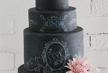 Chalkboard Cake/Cookie Ideas / Cake, cupcake,cookies, blackboard, chalk, wedding cake