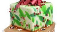 Christmas Cake Decorating Ideas / How to, recipes, Christmas, Father Christmas, bauble baubles, star, penguin, Christmas Tree