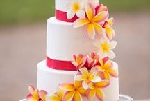 Summer Wedding Cake Ideas / Tropical, summer, flowers, daisy, coral, beach naked cake, tiered
