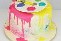 Drip Cakes / paint, cake, wedding cake, colour, drip cake, dripping, birthday, oreo, popcorn