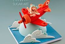 Sugar Models for Cakes / Flowers, baby, animal, cake, cupcake, modelling paste, models, icing, toppers, Winnie the Pooh