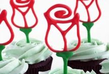 St George's Day / Cake, cupcakes, rose, flag, knight, dragon, cake pop, dessert